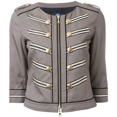 Guild Prime cropped military jacket ($423) ❤ liked on Polyvore featuring outerwear, jackets, green, army green jacket, green field jacket, field jacket, tencel jacket and green jacket