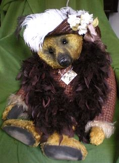 Portobello Bear Company - Great Aunt Clementine - OOAK - Handmade by Amy Goodrich