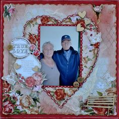 Its all about Love .... a layout made using the 'On the Day' collection from Kaisercraft.  By Kelly-ann Oosterbeek.