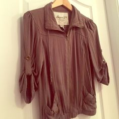 American Rag Zip Up A super comfy, easy-fit zip up from American Rag. Perfect piece to add to your wardrobe, in a very on trend color. In perfect, like new condition. American Rag Tops Sweatshirts & Hoodies