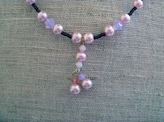 Pink Necklace  Pearl Necklace  Mid Century by LimeysTreasureChest, $20.00    #handmade #women #century #preppy #jewelry #necklace #beaded #pink #pearl #crystal #dark #opaque #unique #ooak #cranberry #girly #wedding #prom #etsy