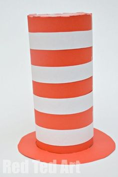 Red Ted Art's Easy Cat in the Hat Craft - perfect for World Book Day dress up ideas!
