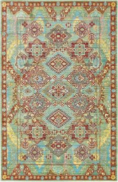 Aria Green Area Rug