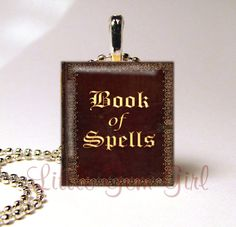 Hey, I found this really awesome Etsy listing at https://www.etsy.com/listing/108037209/book-of-spells-necklace-pendant-witches