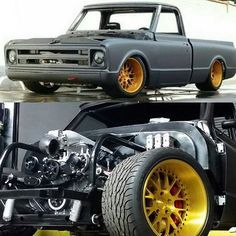 Hot Wheels - One beast of a C10 in the build at @pchrods it's going to be pretty epic,