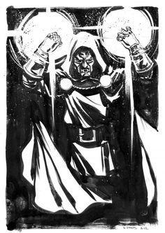 Doctor Doom by Dave Stokes Marvel Comic Character, Comic Book Characters, Comic Books Art, Comic Art, Character Art, Book Art, Marvel Heroes, Marvel Comics, Marvel Art