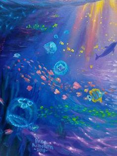 Fantasy Landscape Scenes, Underwater Ocean Scenes and more. Chalkboard Decor, Ocean Scenes, Fantasy Landscape, Art Store, Under The Sea, Dolphins, Underwater, Creative Ideas, Cute Pictures