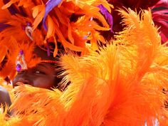 A young girl dressed and ready for the New York Caribbean Carnival in Brooklyn, N.Y. on Sept. 1.