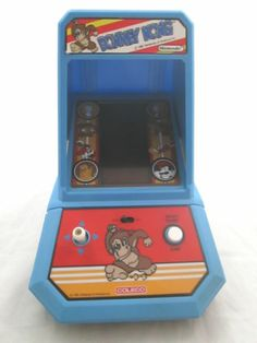 VINTAGE 1981 COLECO DONKEY KONG MINI TABLE TOP ARCADE GAME - Works Working