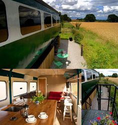"At Skipwith Station in Yorkshire you can stay in a static train carriage. The station was part of the Derwent Valley Light Railway which closed in 1985. The carriages were used on the west coast mainline between London Euston and Birmingham, Manchester and Scotland, and were withdrawn from passenger use in 1991. Four to six persons can stay in either the ""Derwent Flyer"" and the ""Derwent Mail"". There's also ""The Lady Deramore"" which is an ex Virgin West Coast carriage. There are views over…"