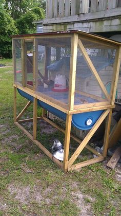 We are starting a small chicken farm and will be raising layers. I took this raised garden bed idea a little further and developed a chicken pen especially to capture the chicken fertilizer. This idea is awesome because the chicken manure is captured in the 55 gallon drums underneath the pen. When you wash out the pens it is all captured then at each end i have a spigot (Not shown) to open up and drain it into 5 gallon buckets then use it for liquid fertilizer on all the fruit trees, plants…