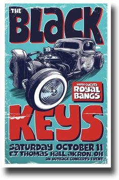 Black Keys Poster - Car Akron Ohio Concert