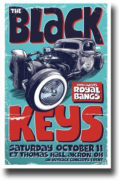 See Black Keys Poster art here - http://concertposter.org/black-keys-poster-car-akron-ohio-concert/
