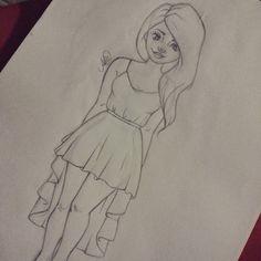Draw desenho drawing girl look Girl Drawing Sketches, Anime Drawings Sketches, Girly Drawings, Cool Art Drawings, Pencil Art Drawings, Beautiful Drawings, Disney Drawings, Cartoon Drawings, Drawing Drawing