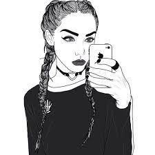 Afbeeldingsresultaat voor tumblr girl drawing