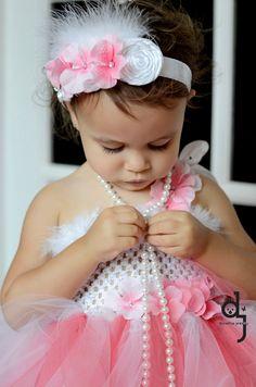 TO MAKE - Tutu Dress/ Toddler Tutu/ 2 Piece Set/ 18 months-3 T/Flower Girl. $70.00, via Etsy.