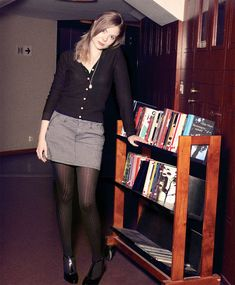 Linda Librarian at Karolinska Institutet/Universitetsbiblioteket, Stockholm Naughty Librarian, Librarian Style, Aesthetic Girl, Aesthetic Clothes, Vintage Ysl, Uk Fashion, Girl Model, Hottest Models, What To Wear