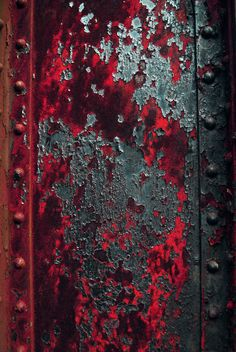 Rust Beam by Logicalx - pretty red patina. Art Grunge, Art Texture, Peeling Paint, Rusty Metal, Red And Grey, Red Black, Blue Grey, Textures Patterns, Color Inspiration