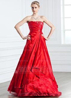 Quinceanera Dresses - $195.99 - A-Line/Princess Strapless Floor-Length Taffeta Organza Quinceanera Dress With Ruffle Beading (021005238) http://hochzeitstore.com/A-line-Princess-Strapless-Floor-length-Taffeta-Organza-Quinceanera-Dress-With-Ruffle-Beading-021005238-g5238