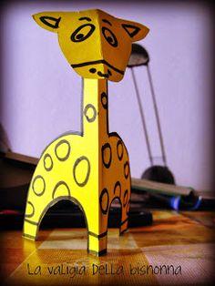 La valigia della bisnonna: GIRAFFA DI CARTA / Paper giraffe - TUTORIAL