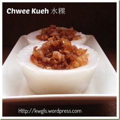 Another Singapore Malaysia Hawker Food–Chwee Kueh or Steamed Rice Cake With Preserved Radish - Guai Shu Shu Steamed Rice Cake, Rice Cakes, Asian Food Channel, How To Cook Brisket, Asian Cake, Heritage Recipe, Asian Street Food, Steam Recipes, Asian Desserts