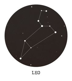 Leo Star Constellation Canvas Print