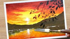 Sunset Landscape / Acrylic Painting for Beginners / Daily Challenge Acrylic Painting For Beginners, Simple Acrylic Paintings, Acrylic Painting Canvas, Diy Painting, Daily Challenges, Sunset Landscape, Youtube, Paintings, Art