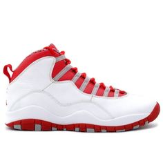 Air Jordan Retro 10 White Varsity Red Light Steel Grey 310805-161