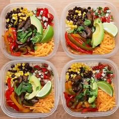 Healthy Meals 85075880445996589 - Portobello Fajita Bowl Meal Prep Recipe by Tasty Source by Diet Recipes, Cooking Recipes, Healthy Recipes, Recipes For Meal Prep, Healthy Cheap Meals, Easy Healthy Lunch Ideas, Healthy Foods, Easy Healthy Meal Prep, Easy Vegetarian Lunch