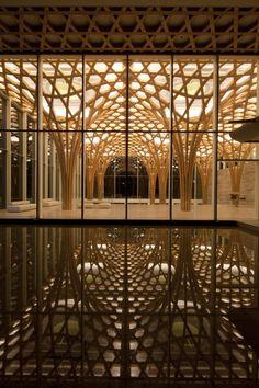 Nine Bridges Country Club by Shigeru Ban Architects / Yeoju-gun, Gyeonggi-do, South Korea