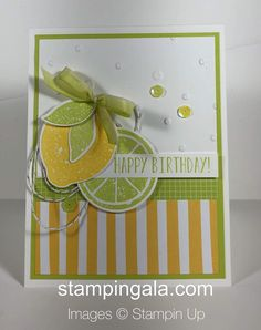 Fruit Stands, Stampin Up Catalog, Lemon Lime, Paint Chips, Handmade Birthday Cards, Recipe Cards, Stamping Up Cards, Grapefruit, Pretty Cards