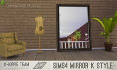Leaning Stylish Mirros I  Vol. 1 I Mirror I by K-Hippie Team via tech-hippie.com  I Maxis Match I Sims 4