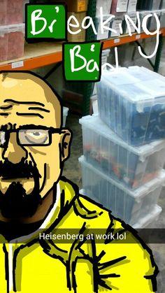 Heisenberg at my work. #snapchat #beezyhater Breaking Bad Snapchat Drawings
