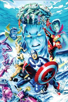 Atlantis Attacks #1 - The Avengers by Mike Mayhew *