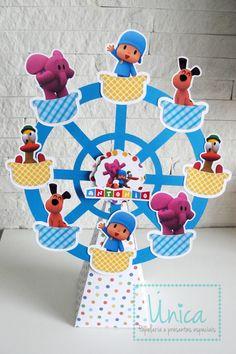 Centro de mesa Roda Gigante Pocoyo  Confeccionadas 100% em papel.  Fazemos outros temas, consulte-nos!