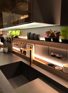 Kitchen Soffit Decorating Ideas is enormously important for your home. Whether you pick the Kitchen Wall Decor Ideas or How To Decorate Kitchen Walls, you will create the best Decorating Kitchen Walls Ideas for your own life. Home Decor Kitchen, Kitchen Cabinet Design, Contemporary Kitchen Cabinets, Kitchen Remodel, Interior Design Kitchen, Contemporary Kitchen, Kitchen Wall Decor, Kitchen Renovation, Kitchen Soffit
