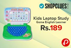Shopclues Deal of the Day is offering English learner laptop study game with 32 pronunciations at Rs.189. English Learner Laptop for Kids, Let them learn while they play with it, Lots of learning without any stress, A laptop shaped English teaching toy with an inbuilt LCD screen and sound instructions, key pad and an unique mouse control.Battery operated.  http://www.paisebachaoindia.com/kids-laptop-study-game-english-learner-at-rs-189-shopclues/