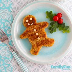 Melty Cheese Man: To catch this gingerbread guy, make cheese sandwiches on wheat bread, then grill them in melted butter. Let them cool slightly, then shape them with a cookie cutter.