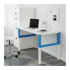 phl escritorio blanco azul x cm ikea
