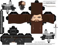 My Custom Cubeecraft / Papercraft Cutout template of Sandor 'The Hound' Clegane. From The HBO TV series Game of Thrones. (All My Custom Fan Art Cubeecra. Cubee - Sandor 'The Hound' Clegane Game Of Thrones Weapons, Game Of Thrones Movie, Game Of Thrones Jewelry, Game Of Thrones Costumes, Game Of Thrones Map, Theme Harry Potter, Harry Potter Room, Paper Toys, Paper Crafts