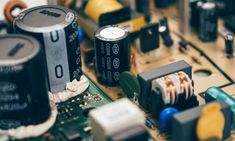 #blur #capacitors #chip #circuit #circuit board #computer #data #detail #display #electrical #electricity #electronic #electronics #element #equipment #hardware #industry #motherboard #power #technology #transformer