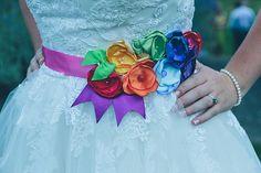 Creative Fun Rainbow Wedding Belt Bride  http://www.christinewehrmeier.com/