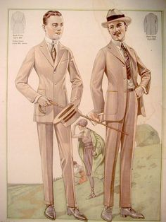 light colored suits--'teens