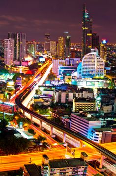 Bangkok by Night, Thailand  Travel to Bangkok in Thailand to enjoy amazing holidays in Asia. Bangkok City offers the best in shopping, architecture, food and nightlife.  --  Have a look at http://www.travelerguides.net