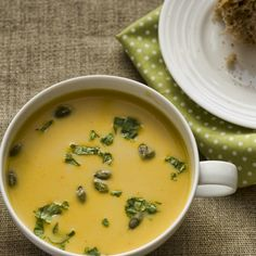 Thai pumkin and coconut soup