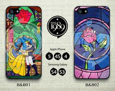 Beauty and the Beast , Rose Glass iPhone Case - iPhone 4 Case, iPhone 4S Case, iPhone 5 Case - Cute Disney Plastic Phone Cases - IP4B on Etsy, $6.99