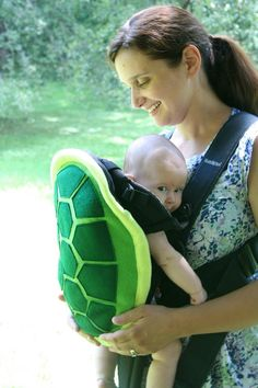 Preorder for Turtle Shell Baby Carrier by NaturallyCraftyShop - Aww :)