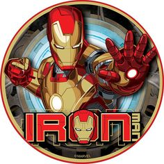 Ironman The Avengers Edible Image Photo Sugar Frosting Icing Cake Topper Sheet Birthday Party 8 Round 14962 >>> For more information, visit image link. (This is an affiliate link)