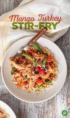 Whip up a bowl of Asian flavor that combines the sweetness of mango, sugar snap peas, sweet peppers, and honey with savory turkey, garlic, ginger, and cabbage. Try our Mango Turkey Stir-Fry recipe for an easy, delicious meal in less than 30 minutes.
