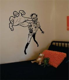 Zombie The latest in home decorating. Beautiful wall vinyl decals, that are simple to apply, are a great accent piece for any room, come in an array of colors, and are a cheap alternative to a custom                                                                                                                                                       More